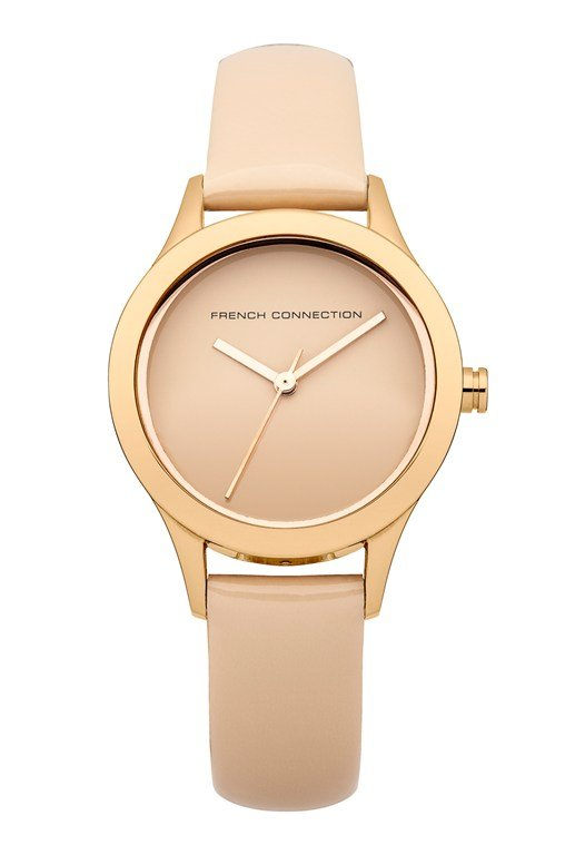 Mineral Glossy Nude Leather Watch