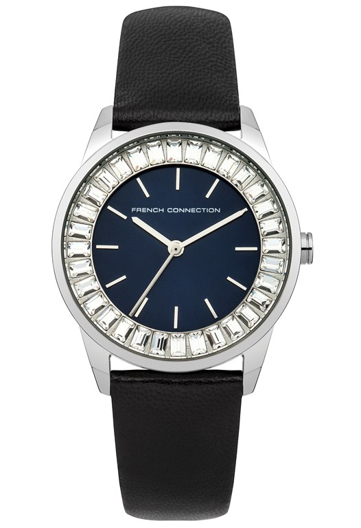 QUEENSWAY Sunray Dial Crystal Watch