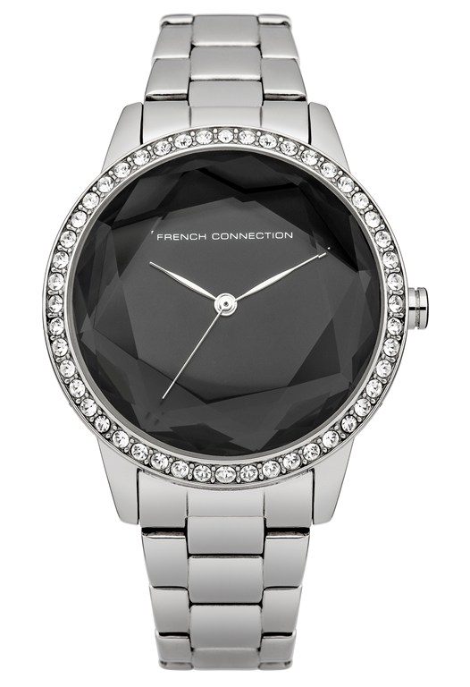 Polished Steel Crystal Bracelet Watch