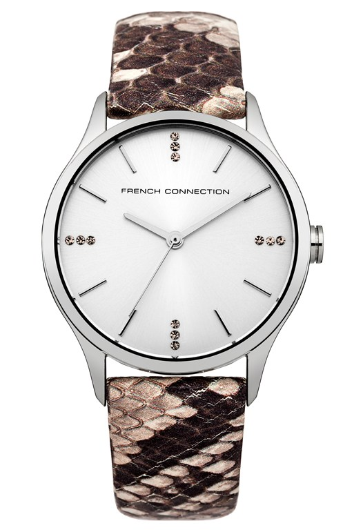 Faux Python Leather Watch