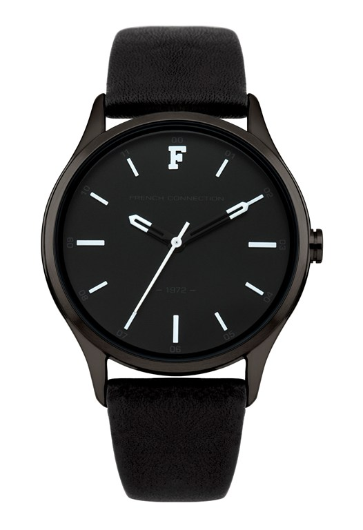 KENSINGTON PETITE Black Leather Watch