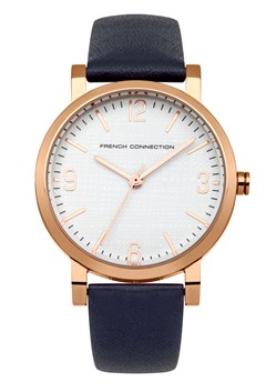 Polished Case Leather Strap Watch