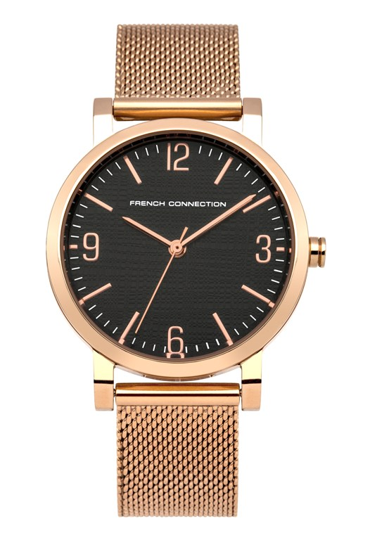 Rose Gold Mesh Bracelet Watch