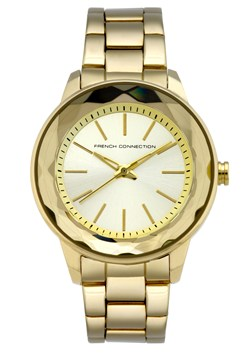 Gold Bracelet Faceted Watch