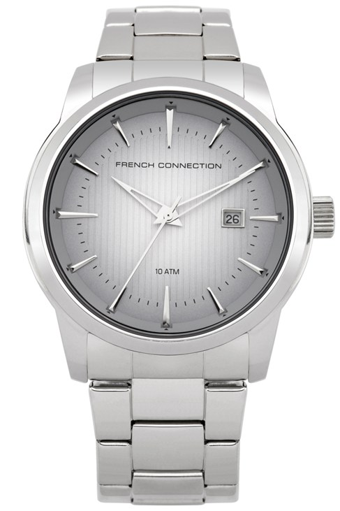 Round Sunray Silver Watch