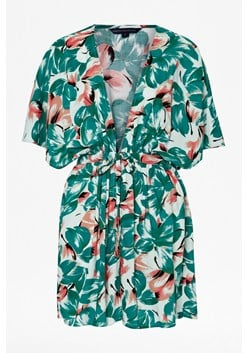 Angela Floral Beach Cover-up