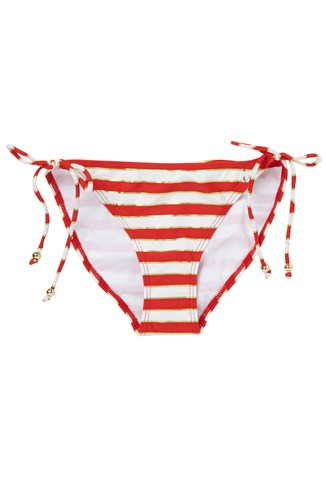 Sun & Sea Striped Bikini Briefs