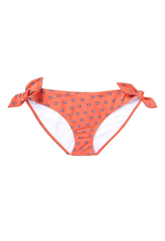 Horseshoe Print Bow Bikini Briefs