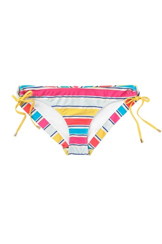 Stripey Sandy Bikini Briefs Pink