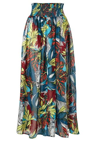 Electric Forest Beach Maxi Skirt