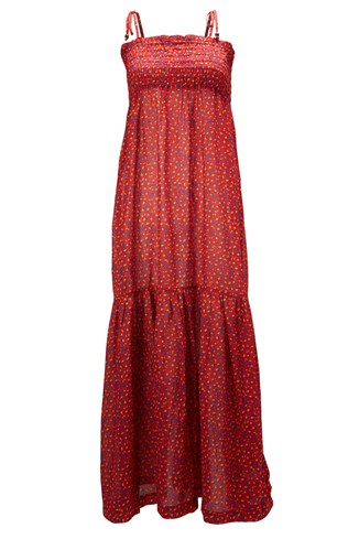Ditsy Leaf Maxi Dress