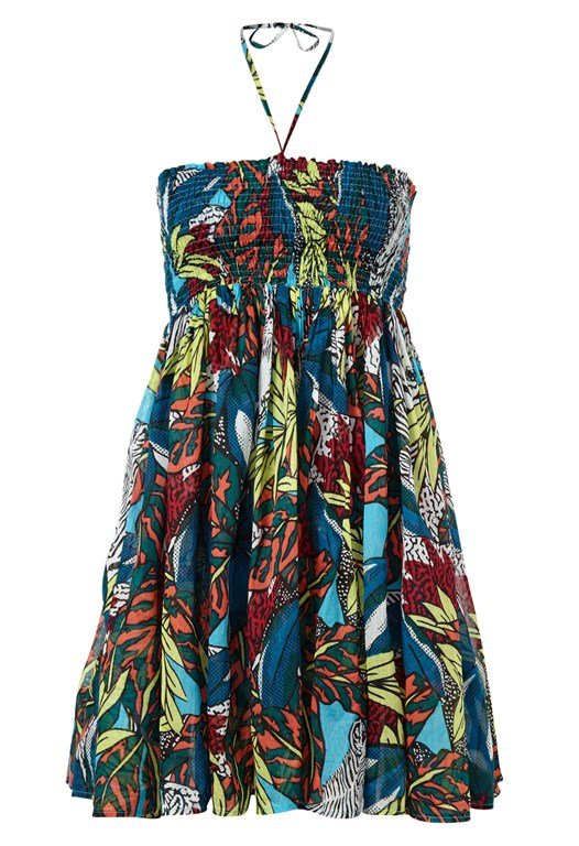 Electric Forest Beach Halter Dress