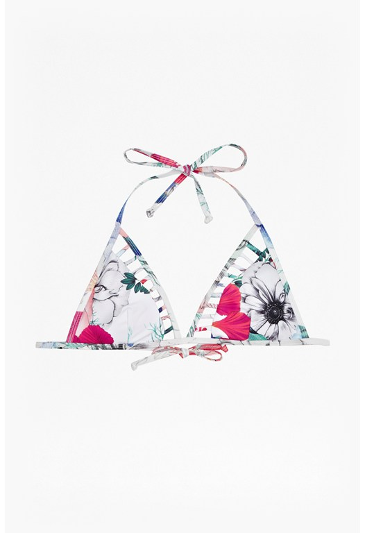 Floral Reef Triangle Bikini Top