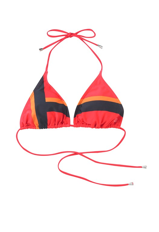 Summer Stripe Triangle Bikini Top