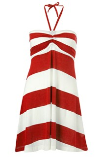 Sun & Sea Striped Beach Dress