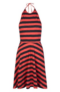 Serenity Striped Halter Dress