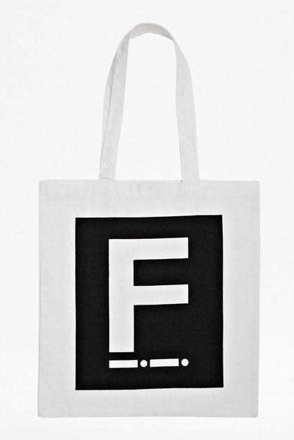 F Canvas Shopper