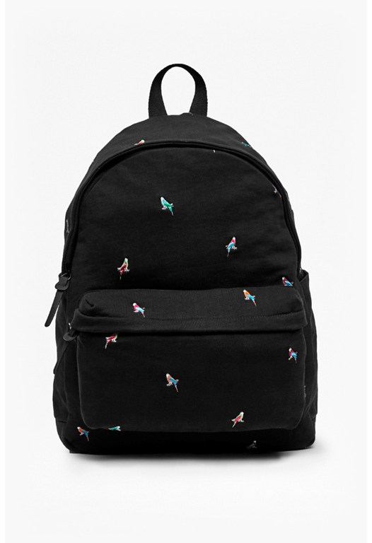 Party Parrot Embroidered Backpack