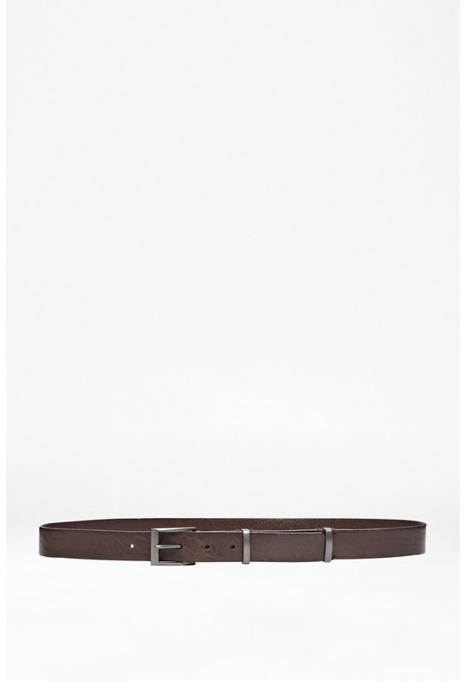 Metal Division Leather Belt