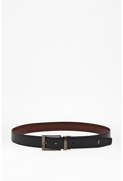 Etched Leather Formal Belt