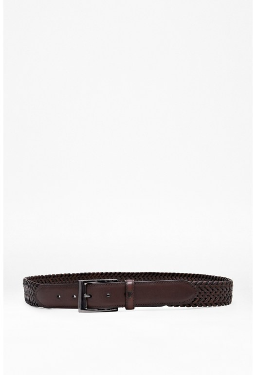 Brodie Woven Leather Belt