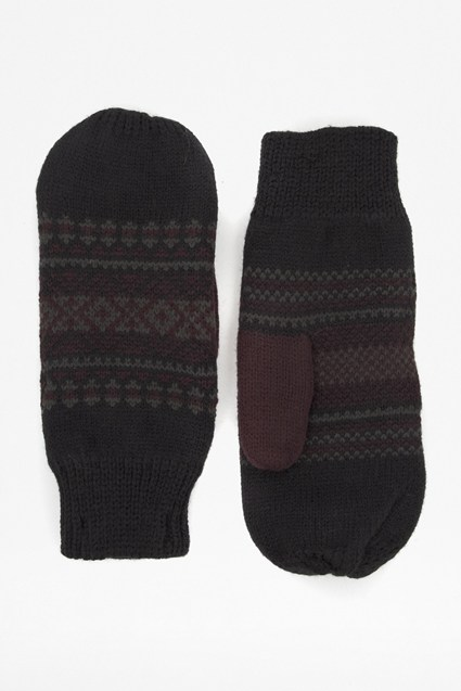 Nordic Fair Isle Knitted Mittens