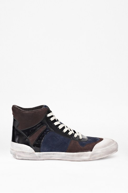 Ted Suede High Top Navy Trainers