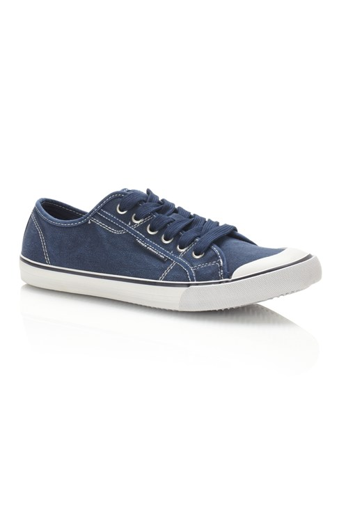 Jacked Washed Canvas Trainers
