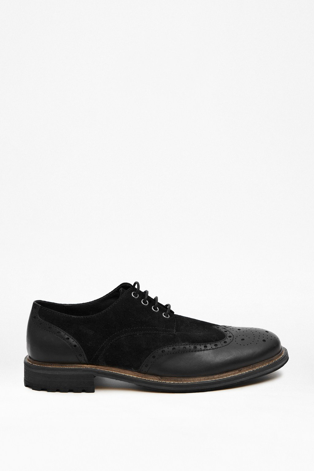Flynn Leather and Suede Brogues