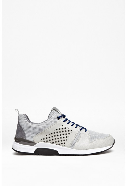 Cade Leather Mesh Trainers