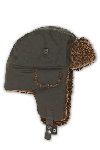 Waxed Trapper  Hat