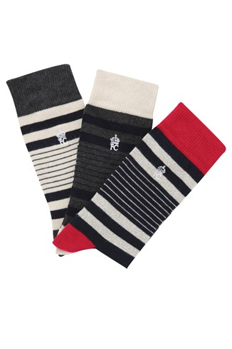 Three Pack Mini Contour Socks