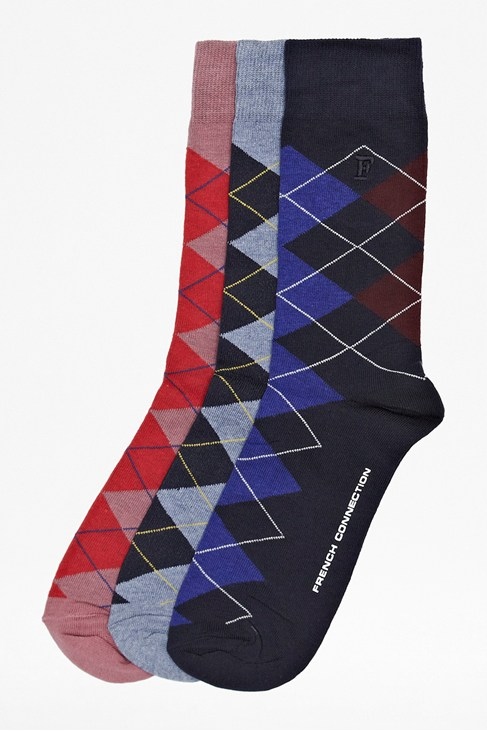 Three Pack Riley Socks