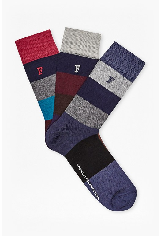 Filbert 3Pk Stripe Socks