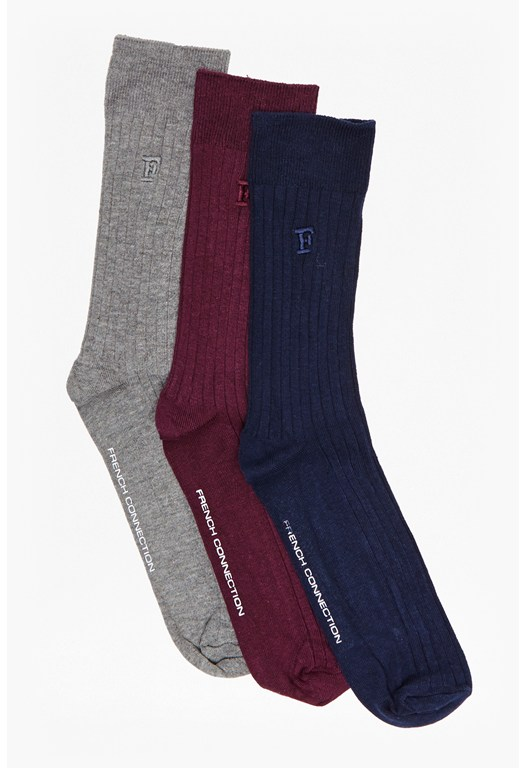 Amos Plain 3 Pack Fencing Basic Socks