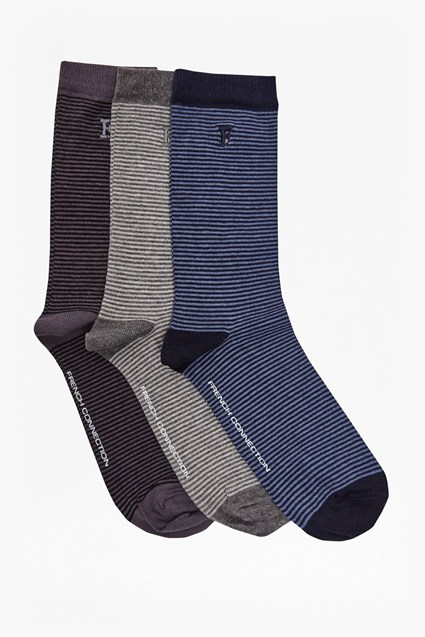Magnus Mini Stripe 3 Pack Socks
