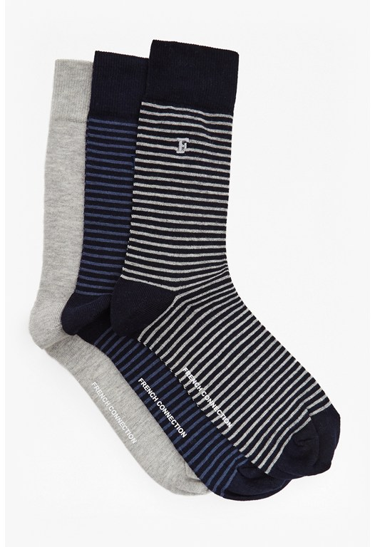 Sambit Mini Stripe 3 Pack Socks