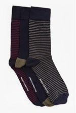 Looks Great With Sambit Mini Stripe 3 Pack Socks
