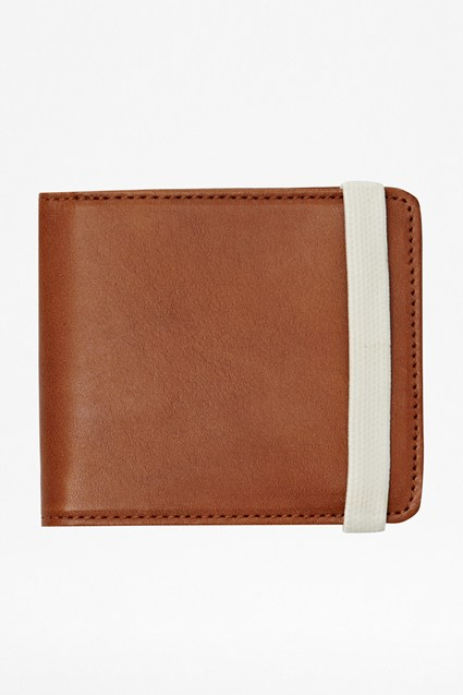 Pop Collared Leather Wallet