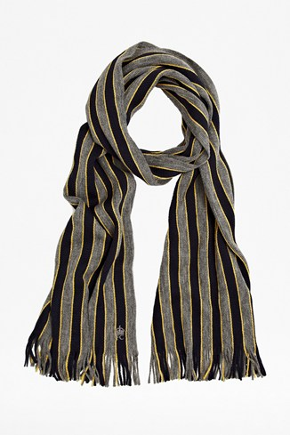Perfect Boarder Striped Wool Scarf
