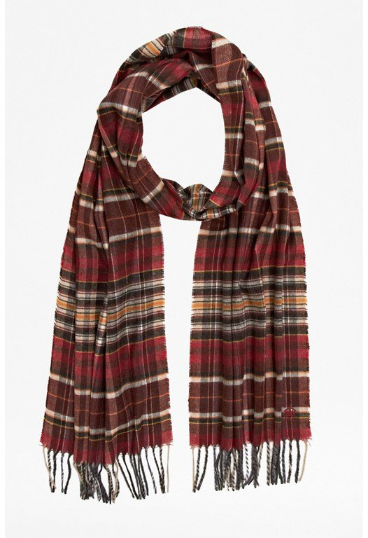 Agency Multi-Checked Scarf