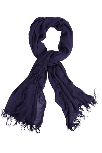 Plain Model Blend Scarf Black, Blue