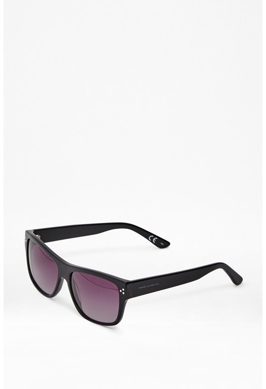 Black Wood Effect Sunglasses