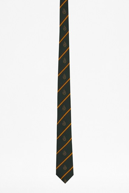 Cross Shields Emblem Silk Tie