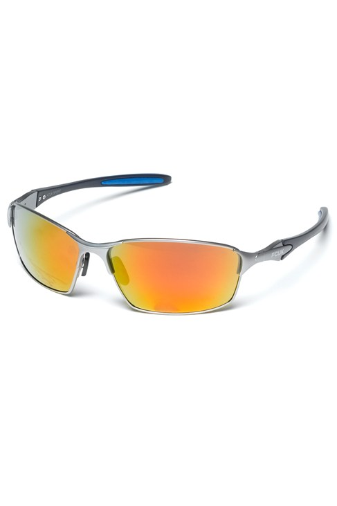 Metal Sports Wrap Sunglasses