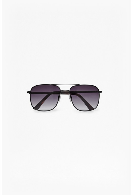 Temple Detail Square Sunglasses