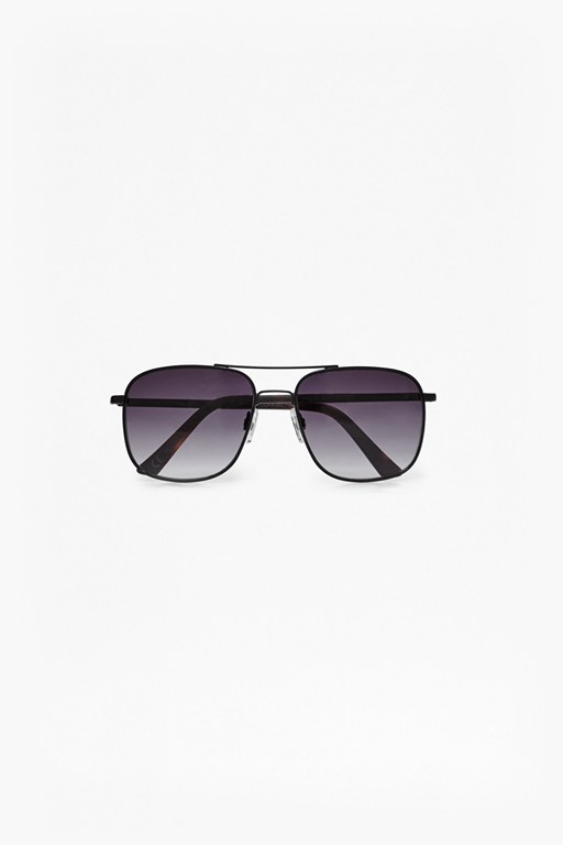Complete the Look Temple Detail Square Sunglasses