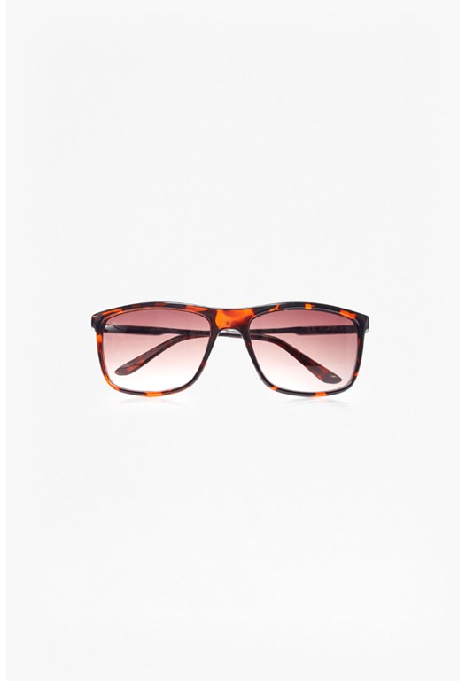 Metal Temple Square Sunglasses