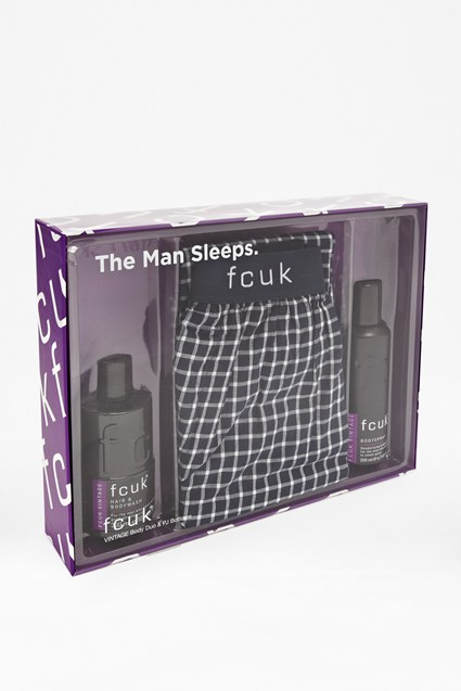 FCUK The Man Sleeps Vintage Body Duo & PJs