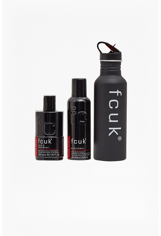 Fcuk Water Bottle & Sport Gift Set